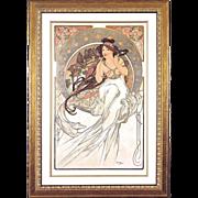 "4981B The Arts - ""Music"" Art Print by Alphonse Mucha (2 of 4)"