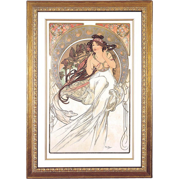 "4981B The Arts - ""Music"" Art Print by Alphonse Mucha (2 of 4)"