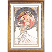 "4981C The Arts - ""Poetry"" Art Print by Alphonse Mucha (3 OF 4)"