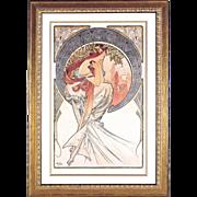 "4981C The Arts - ""Poetry"" Art Print by Alphonse Mucha (3 OF 4)"