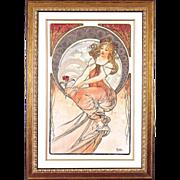 "4981D The Arts - ""Painting"" Art Print by Alphonse Mucha (4 OF 4)"