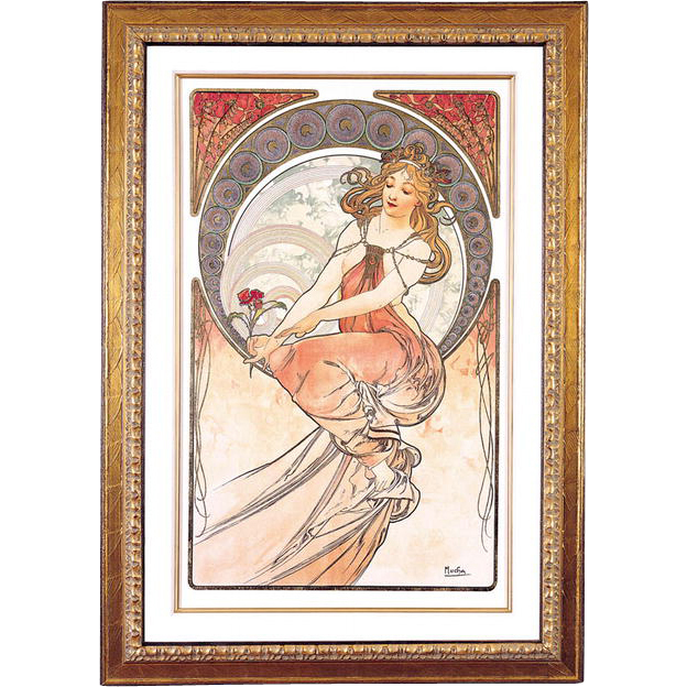 "4981D The Arts - ""Painting"" Art Print by Alphonse Mucha (4 OF 4)"