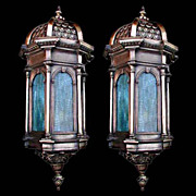 5002 Fantastic Pair of 19th C. Bronze Antique Sconces