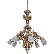 5013 French Gilt Bronze 8-Light Chandelier