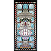5025 Beautiful 19th C. Beveled & Rippled Stained Glass Window