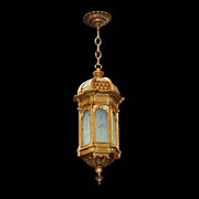 5029B Beautiful Antique 19th C. Hanging Bronze Lantern