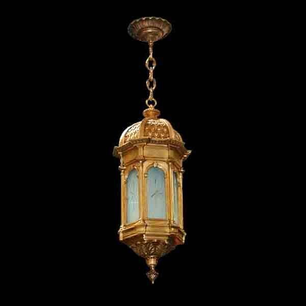 5029B Beautiful Antique 19th C. Hanging Bronze Lantern