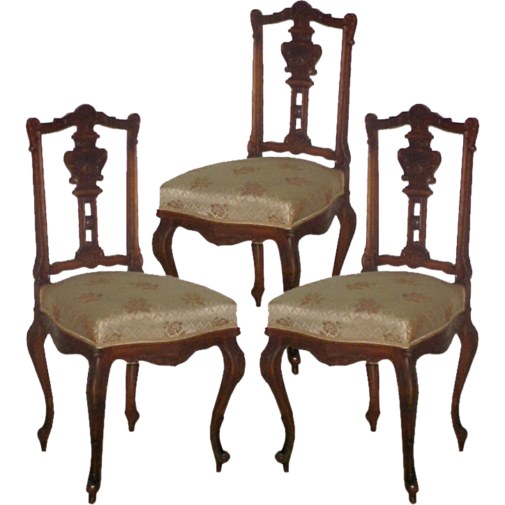 5048B Set of Three 19th C. French Rosewood Side Chairs