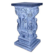 506 Large Solid Black Marble Pedestal