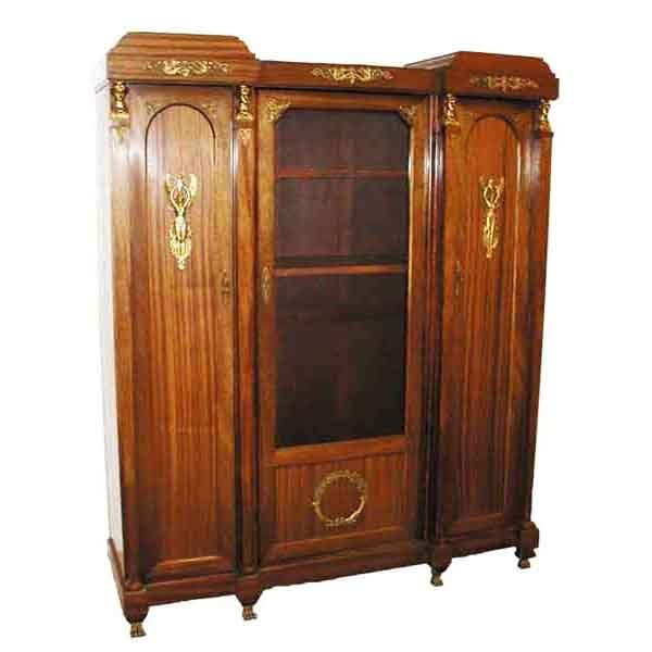 5068 Fabulous French Empire Style 3-Door Bookcase