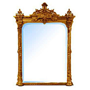 5083 American Renaissance Revival Gessoed Giltwood Mirror c. 1855
