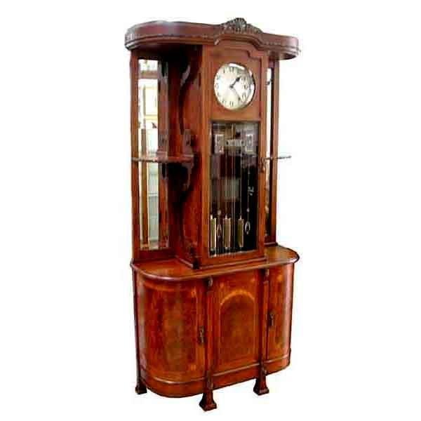 Beautiful Empire Grandfather Clock c. 1910