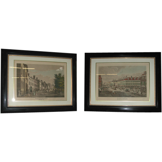 5128 Signed Broadway NYC Aquatints by Raoul Varin