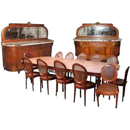 5140 15-Pc. French Empire Dining Set c. 1885
