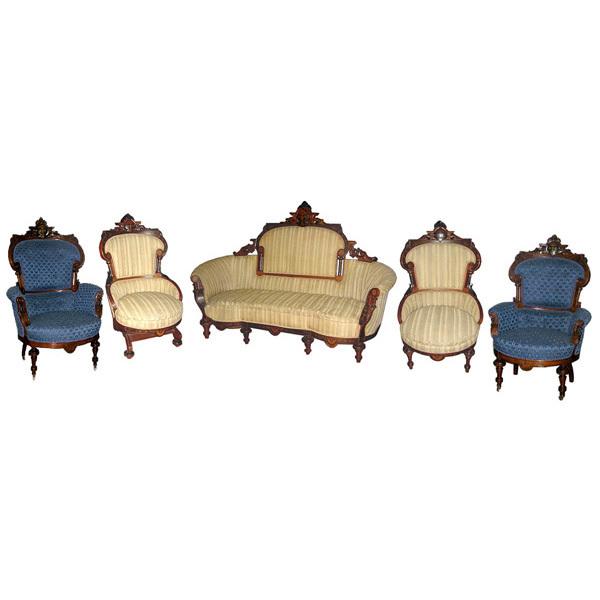 5185 Five-Piece American Victorian Parlour Suite c. 1890
