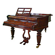 5194 Beautiful Antique Rosewood Case Piano by Broadwood