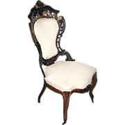 5207 19th C. American Rococo Side Chair by J.W. Meeks