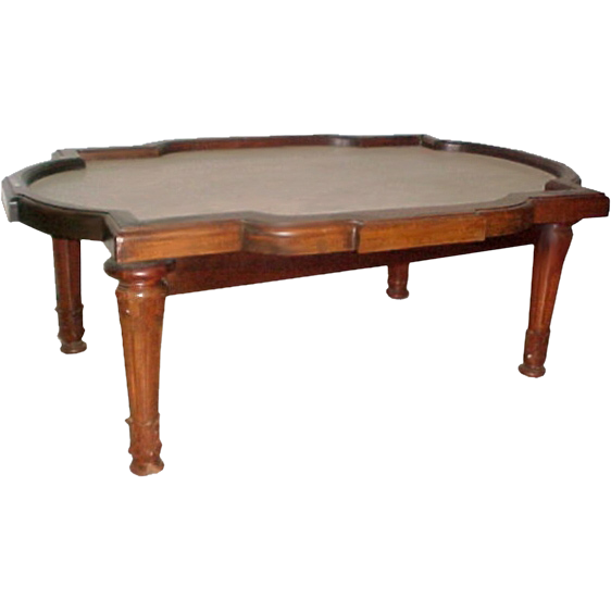 5275 19th C. Victorian Coffee Table with Marble Top