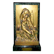 "5288 ""LA VERITÈ"", A Marble & Bronze Allegorical Relief Wall Statue Signed H. Chapu"