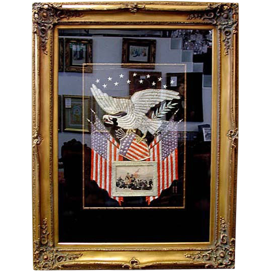 5314A American Eagle & Flag Military Embroidery