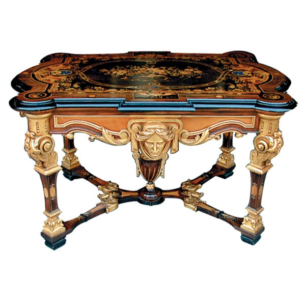 533 American Renaissance Revival Table by Herter Brothers