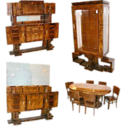 5341 10-Piece Art Deco Dining Set c. 1920