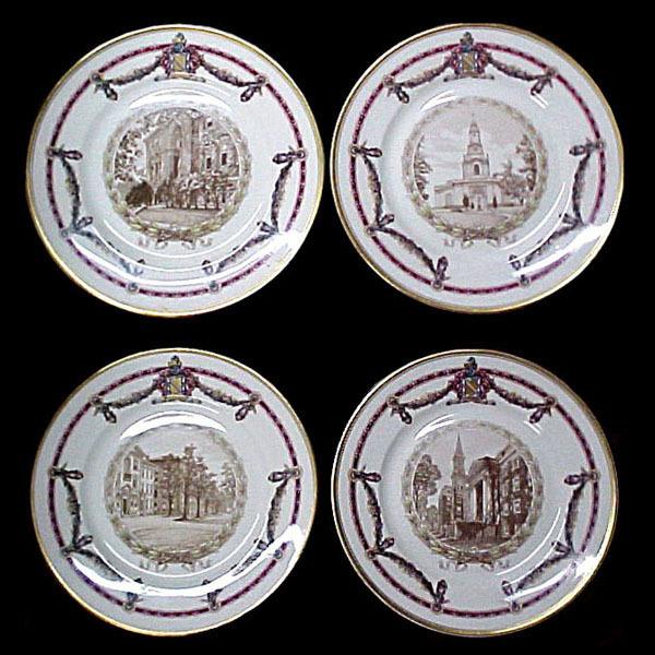 "5389 Lamberton Scammel ""Lafayette College"" Plates, Set of 12, circa 1930"