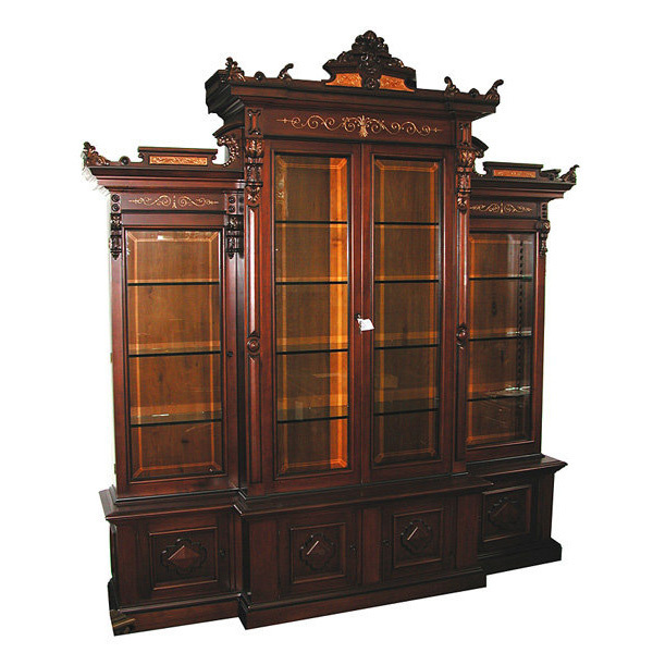 5394 Large American Renaissance Revival 4-Door Bookcase