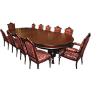 5424 13-Pc. Walnut Renaissance Revival Dining Set c. 1880