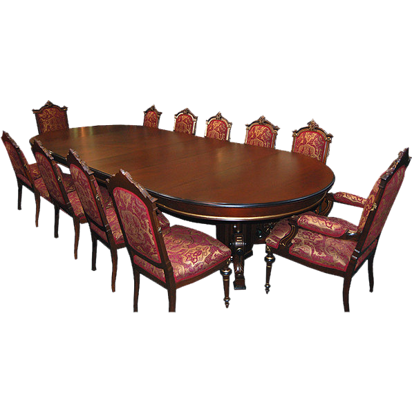 5424 13-Pc. Walnut Renaissance Revival Dining Set c. 1880