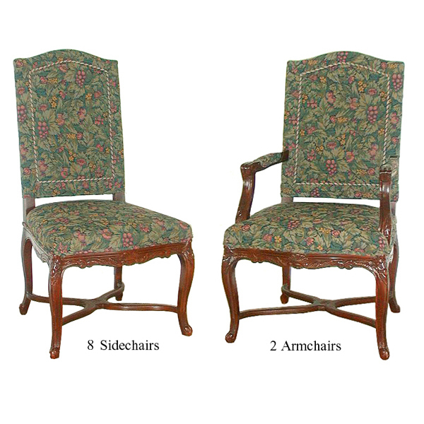 5425 Set of 8 Sidechairs and 2 Armchairs c. 1890