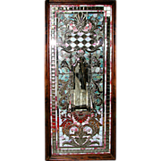 5441 Beautiful Stained Beveled and Rippled Glass Window