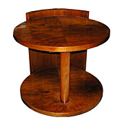 5467 Fabulous Round Art Deco Center Table