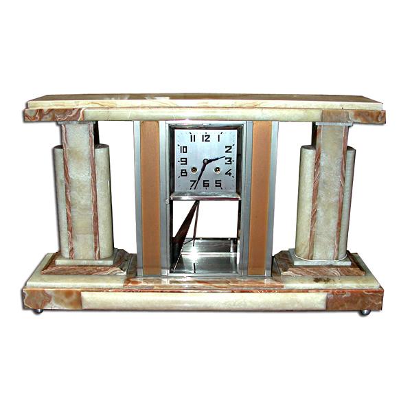63.5481 Original 1920's Marble Art Deco Clock