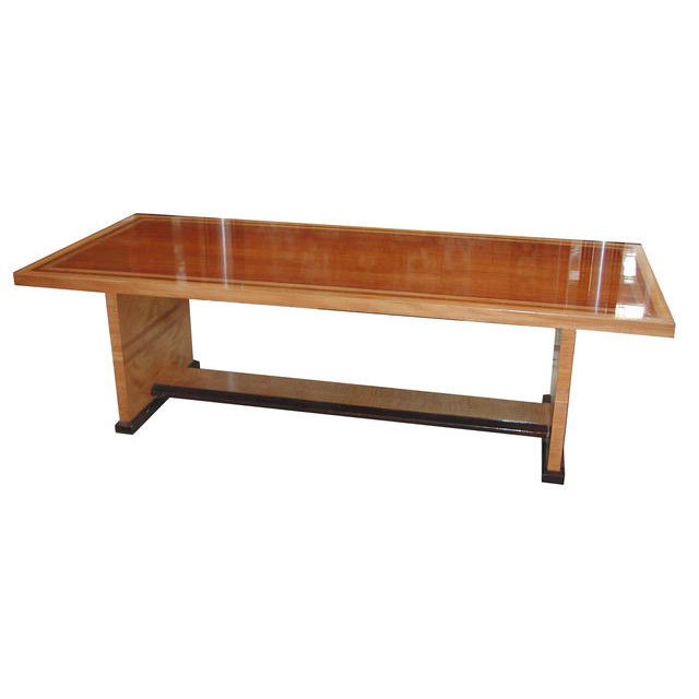 5488 Art Deco Ash, Mahogany & Rosewood Dining/Center Table