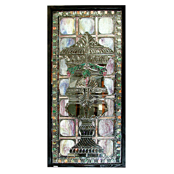 5507 Beautiful Beveled & Rippled Stained Glass Window