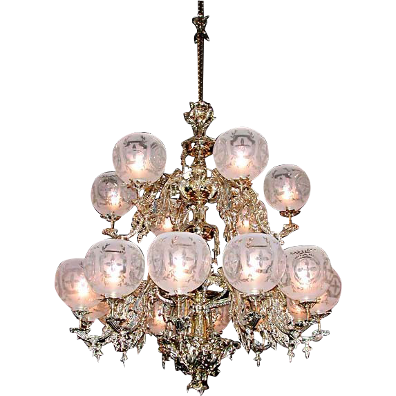 5555 18-Light Two-Tier Gasoiler Chandelier