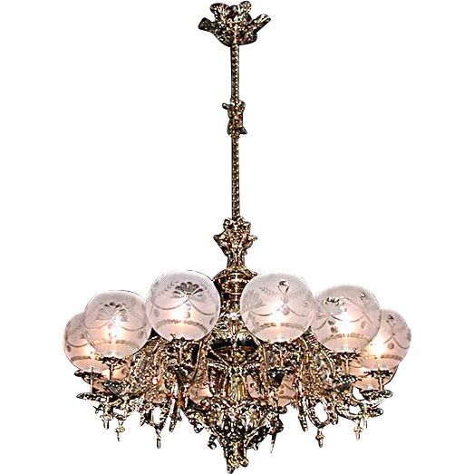 5556 Rococo 12-Light Single Tier Chandelier