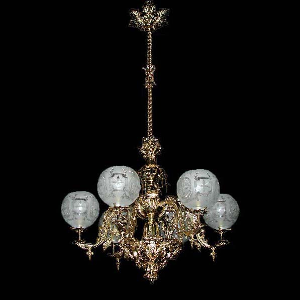 5561 Beautiful 6 Light Single Tier Chandelier
