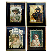 5584 Set of Art Nouveau Women Posters.