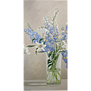 5610 Oil on Canvas Floral Painting Signed: Gerry High