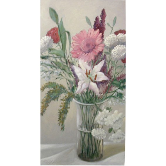 5611 Oil on Canvas of Floral Scene Signed: Gerry High