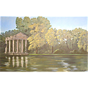 5614 Oil on Canvas Landscape Mural Signed: Gerry High