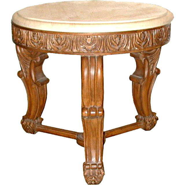 5618 20th C. Carved Marble Top Side Table