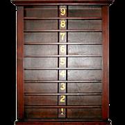 5634 Rare Antique 19th C. Ball Rack