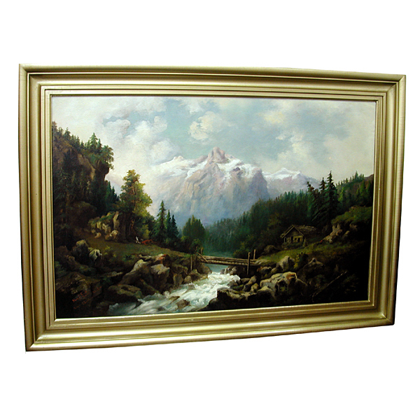 5648 Framed Oil on Canvas Painting Signed: Mary E. Cook