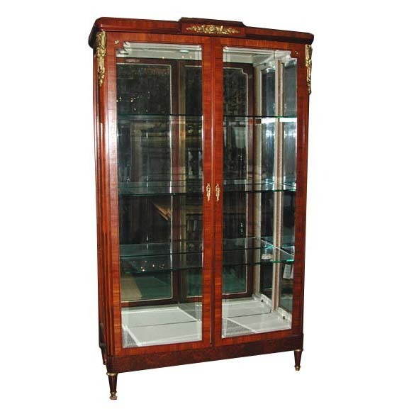 5650 French Empire Cabinet with Glass Doors