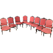 5658 Set of 8 Matching Rosewood Art Nouveau Chairs
