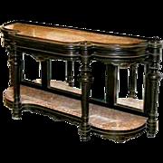5659 Renaissance Revival Walnut Console Table