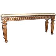 ES007 20th C. Marble Top Console Table